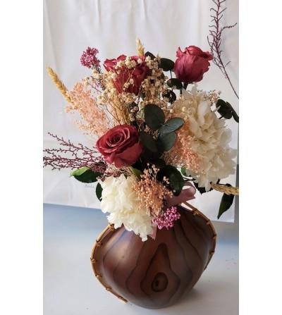 Jarrón con flores...