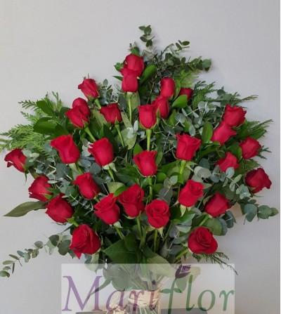 Ramo  funeral 36 rosas